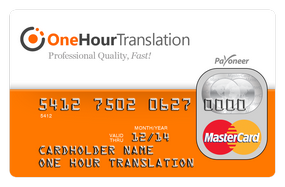 One Hour Translation MasterCard